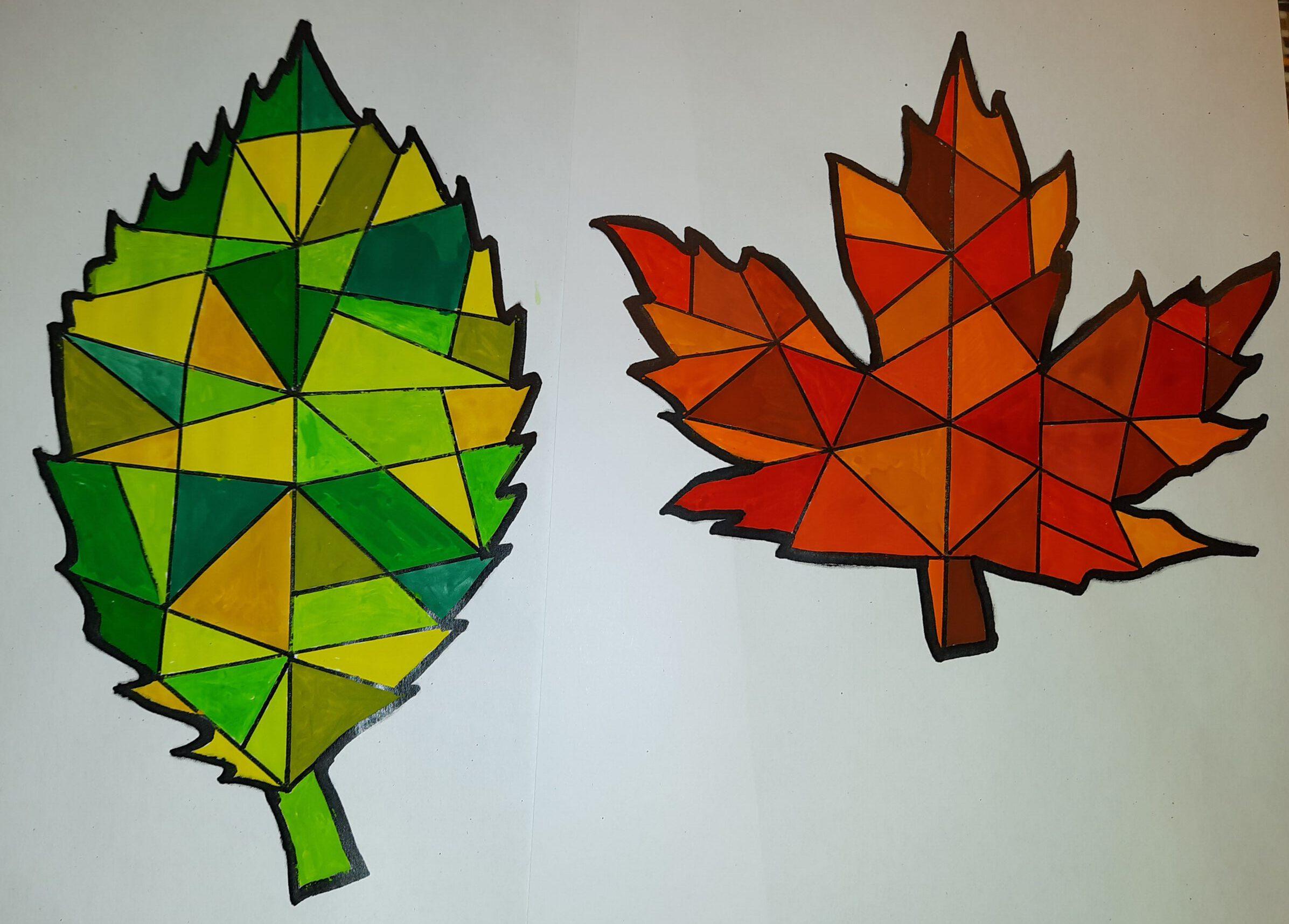 Kunst Herbstblatter Fensterbilder Grundschul Ideenbox